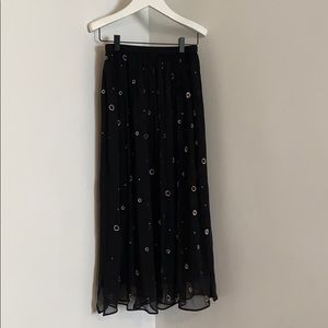 NWT Vince Embroidered Skirt